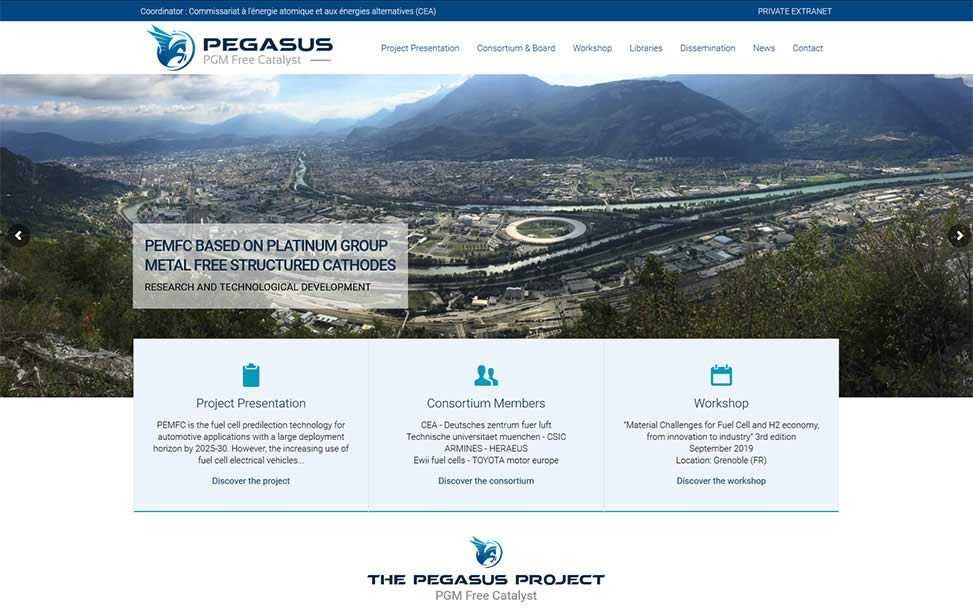 Pegasus project - PEMFC based on platinum group